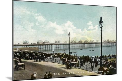 The Palace Pier in Brighton--Mounted Photographic Print