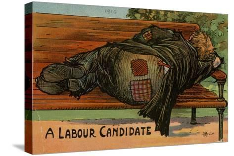 A Labour Candidate, 1910--Stretched Canvas Print