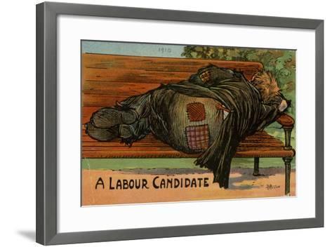 A Labour Candidate, 1910--Framed Art Print