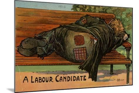 A Labour Candidate, 1910--Mounted Giclee Print