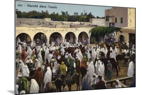Market in the Oasis--Mounted Photographic Print