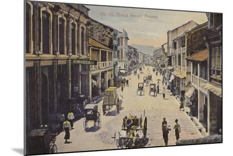 Beach Street, Penang--Mounted Photographic Print