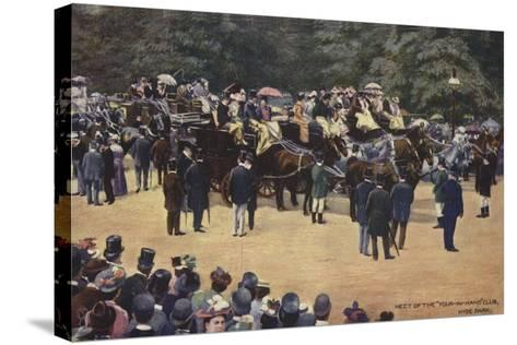 """Meet of the """"Four-In-Hand"""" Club, Hyde Park--Stretched Canvas Print"""