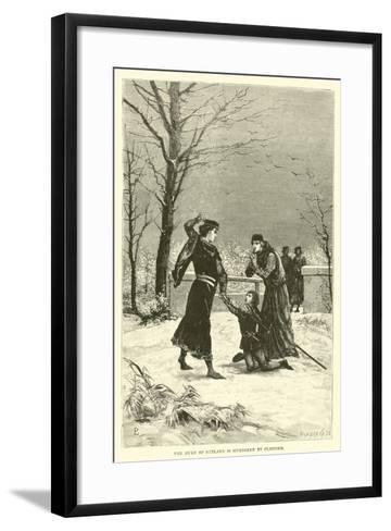 The Duke of Rutland Is Murdered by Clifford--Framed Art Print