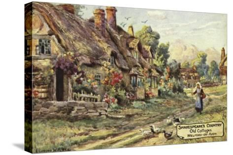 Old Cottages, Welford-On-Avon, Warwickshire--Stretched Canvas Print