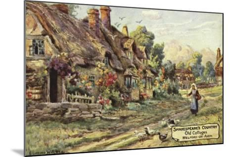 Old Cottages, Welford-On-Avon, Warwickshire--Mounted Giclee Print