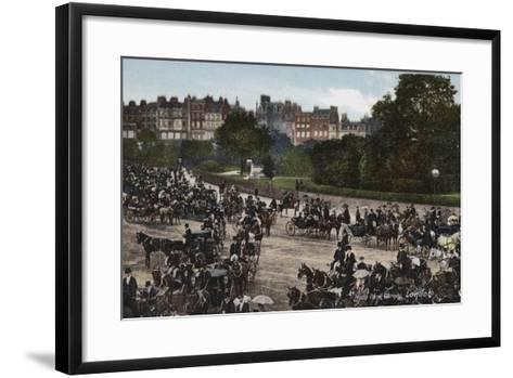 Hyde Park Corner, London--Framed Art Print