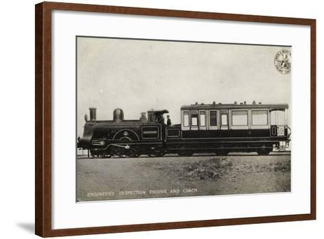 Engineer's Inspection Engine and Coach--Framed Art Print