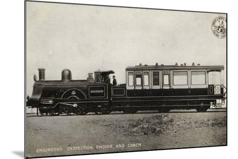 Engineer's Inspection Engine and Coach--Mounted Photographic Print