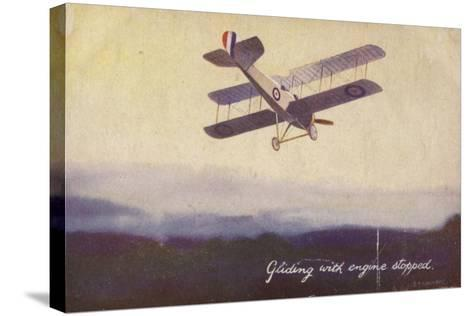 Gliding with Engine Stopped--Stretched Canvas Print