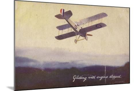 Gliding with Engine Stopped--Mounted Giclee Print
