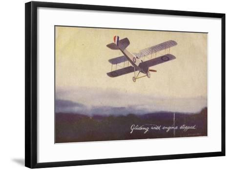 Gliding with Engine Stopped--Framed Art Print