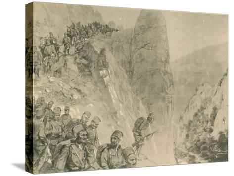 Advance of the Bosnian Herzogivinan Infantry--Stretched Canvas Print