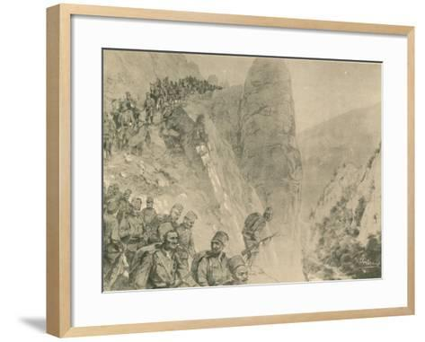 Advance of the Bosnian Herzogivinan Infantry--Framed Art Print