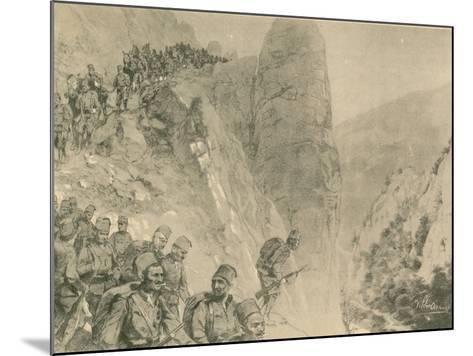 Advance of the Bosnian Herzogivinan Infantry--Mounted Giclee Print