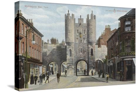Micklegate Bar, York--Stretched Canvas Print
