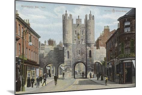 Micklegate Bar, York--Mounted Photographic Print