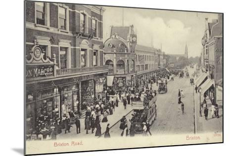 Brixton Road, London--Mounted Photographic Print