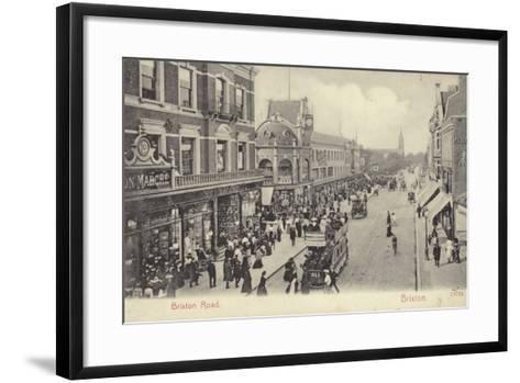 Brixton Road, London--Framed Art Print