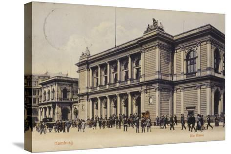 Postcard Depicting the Hamburg Stock Exchange--Stretched Canvas Print