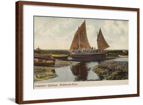 Volunteer Lifeboat, Walton-On-Naze--Framed Art Print