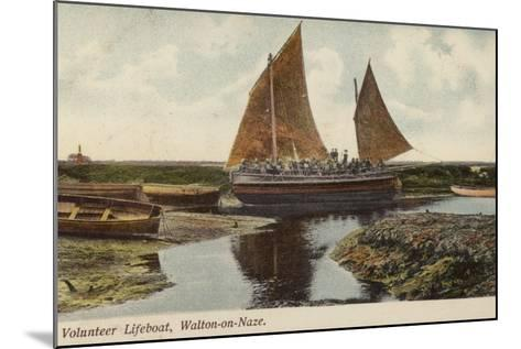 Volunteer Lifeboat, Walton-On-Naze--Mounted Photographic Print
