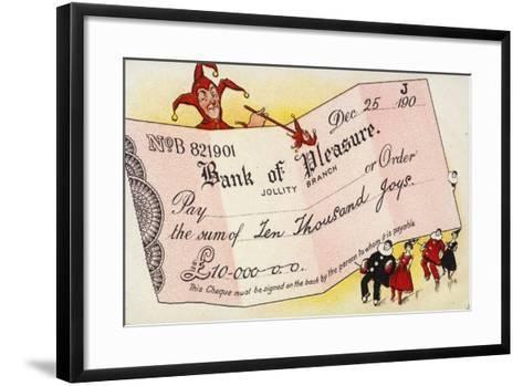 Bank of Pleasure--Framed Art Print