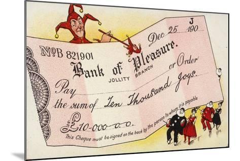 Bank of Pleasure--Mounted Giclee Print