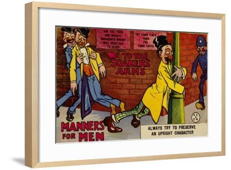 Drunks on a Street--Framed Art Print