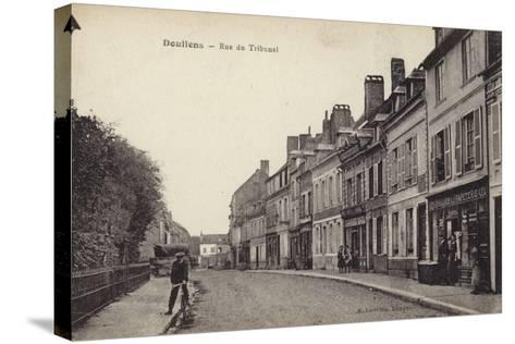 Postcard Depicting the Rue Du Tribunal--Stretched Canvas Print