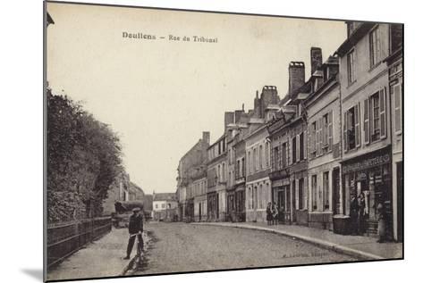 Postcard Depicting the Rue Du Tribunal--Mounted Photographic Print