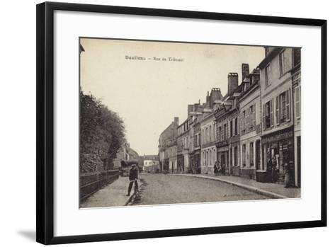 Postcard Depicting the Rue Du Tribunal--Framed Art Print