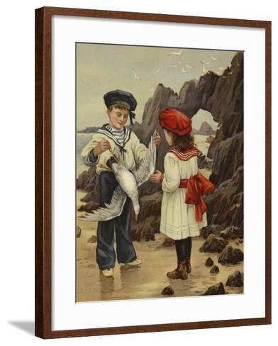 The Dead Sea-Gull--Framed Art Print