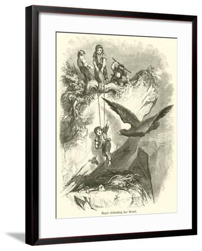 Eagle Defending Her Brood--Framed Art Print