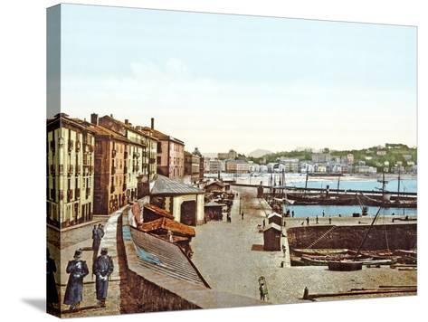 San Sebastián Harbour, Spain, 1890-1900--Stretched Canvas Print