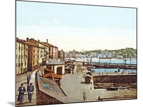 San Sebastián Harbour, Spain, 1890-1900--Mounted Photographic Print