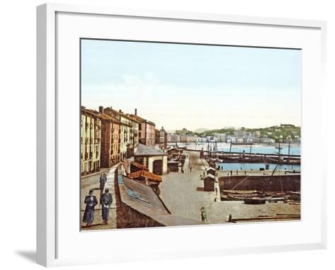 San Sebastián Harbour, Spain, 1890-1900--Framed Art Print