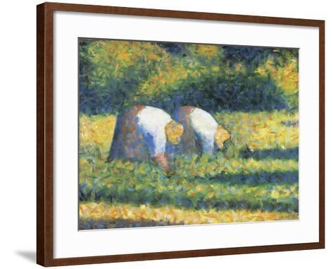 Farmers at Work, 1882-Georges Seurat-Framed Art Print