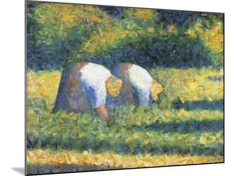 Farmers at Work, 1882-Georges Seurat-Mounted Giclee Print