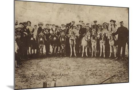 The Donkeys, Blackpool--Mounted Photographic Print