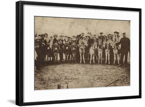The Donkeys, Blackpool--Framed Art Print