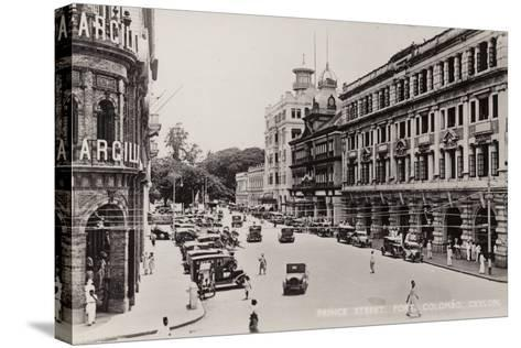 Prince Street in Colombo--Stretched Canvas Print