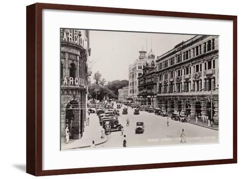 Prince Street in Colombo--Framed Art Print