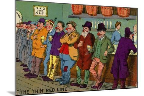 The Thin Red Line--Mounted Giclee Print