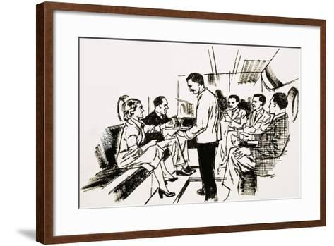 Boeing Stratocruisers Lower-Deck Cocktail Louge--Framed Art Print