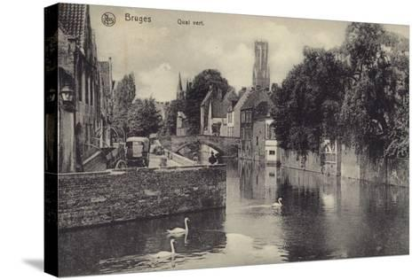 Postcard Depicting the Quai Vert--Stretched Canvas Print