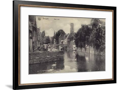 Postcard Depicting the Quai Vert--Framed Art Print