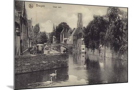 Postcard Depicting the Quai Vert--Mounted Photographic Print