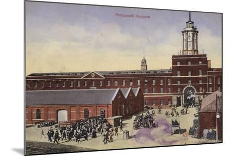 Portsmouth Dockyard--Mounted Photographic Print