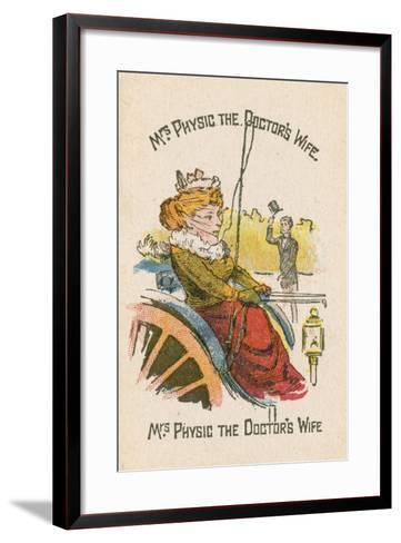 Mrs Physic the Doctor's Wife--Framed Art Print